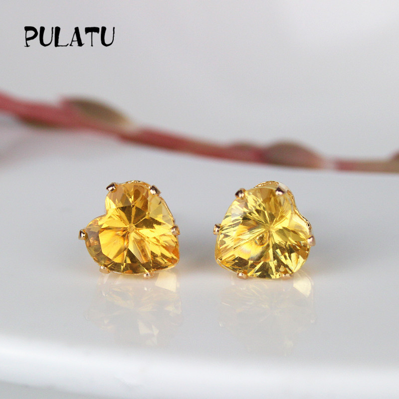 silver earrings love stud new for earring statement women punk wedding bijoux vintage flower color fashion crystal earringearrings