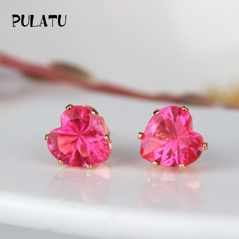 9 Color Hot Heart Earring For 8mm Crystal Stud Earrings Geometric Rhinestone Minimalist Women Jewelry Tu Bk668
