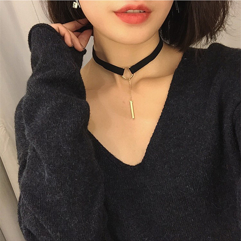4637e8a8ec8b2 Gothic Velvet Heart Crystal Choker Handmade Necklace Pendant Retro 80 90s  New One Direction x296hun