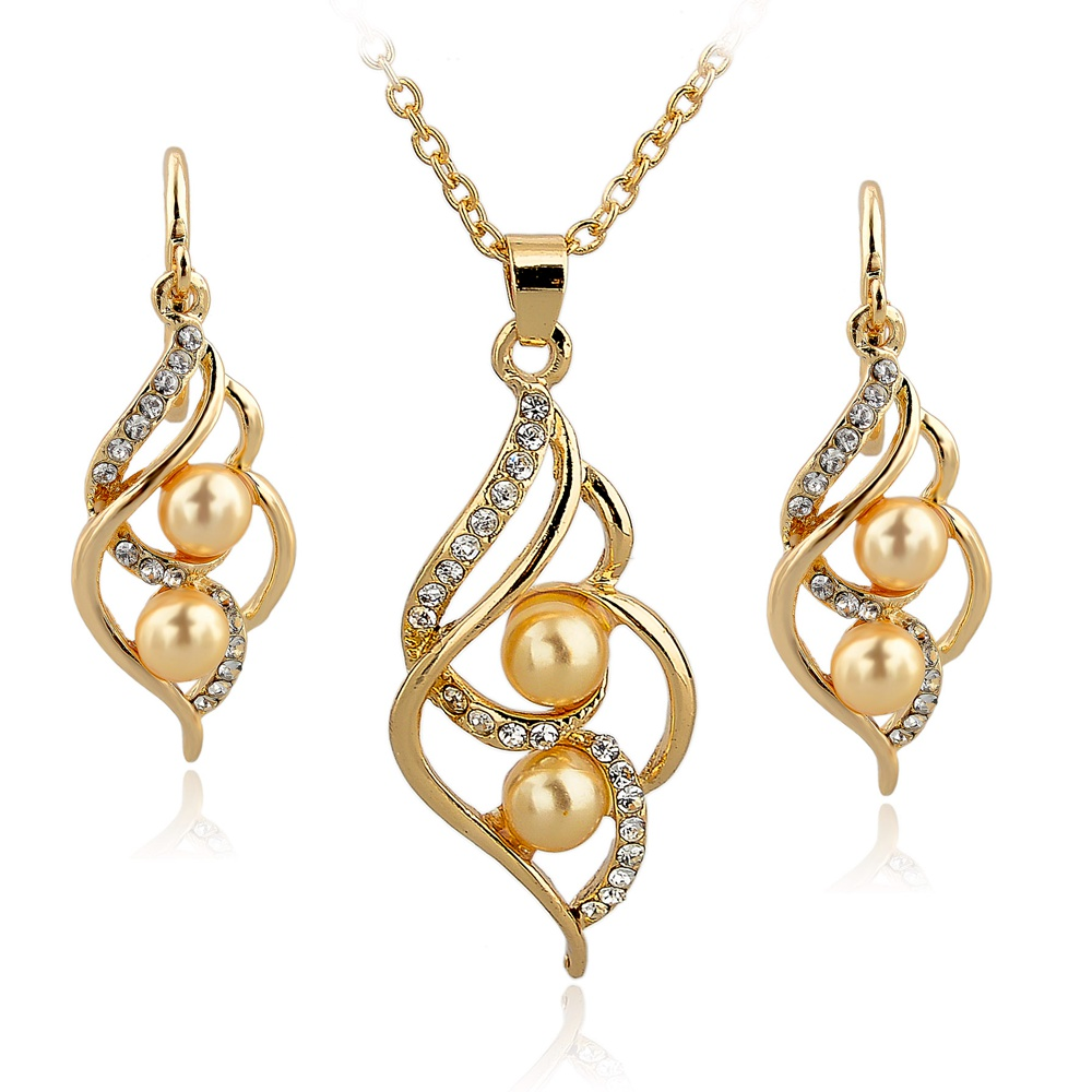Toucheart Simulated Pearl Indian Wedding Jewelry Sets For Women